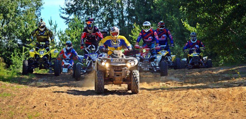 ATV Quad Riders On Race